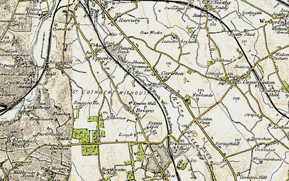 Old map of Woodbank Ho in 1901-1904