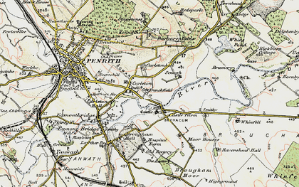 Old map of Whins Pond in 1901-1904