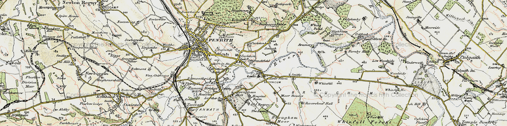 Old map of Whinfell Park in 1901-1904