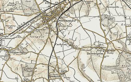 Old map of Carleton in 1903