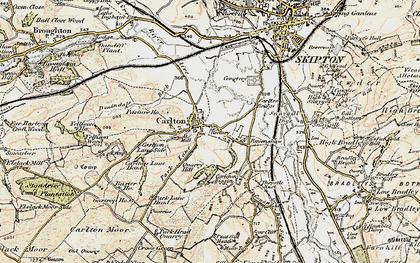 Old map of Carleton-in-Craven in 1903-1904
