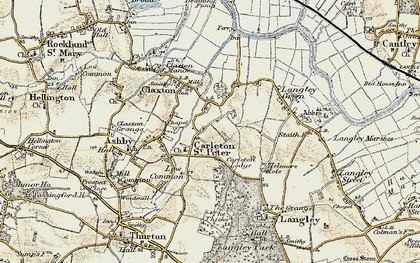 Old map of Langley Green in 1901-1902