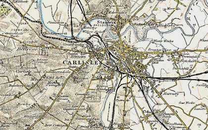 Old map of Carlisle in 1901-1904