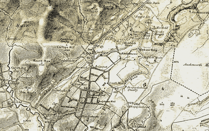 Old map of Linton Muir in 1903-1904