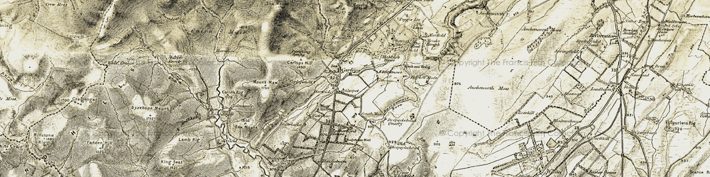 Old map of Whitfield in 1903-1904