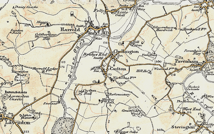 Old map of Carlton in 1898-1901
