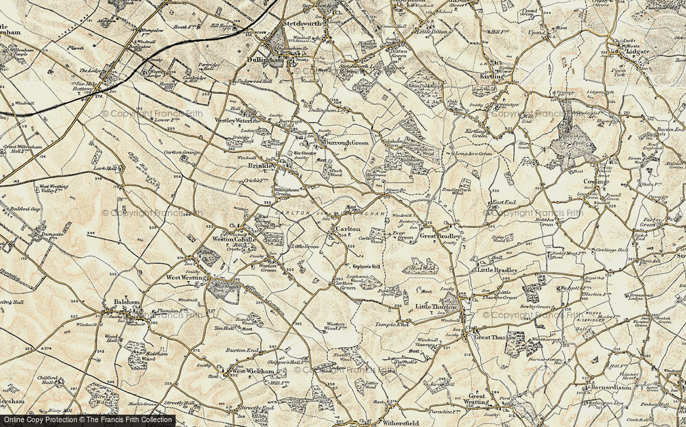 Old Map of Carlton, 1899-1901 in 1899-1901