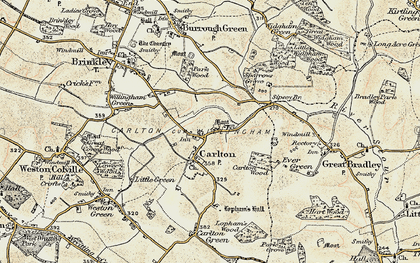 Old map of Carlton in 1899-1901
