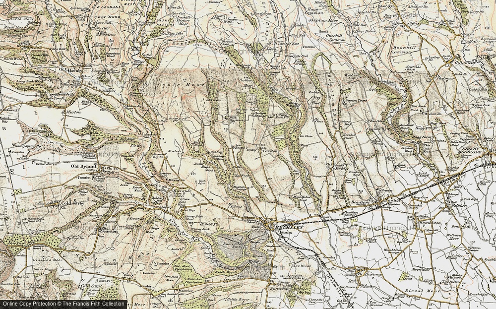 Old Map of Historic Map covering Ash Dale in 1903-1904