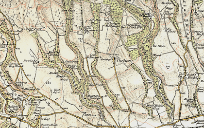 Old map of Ash Dale in 1903-1904