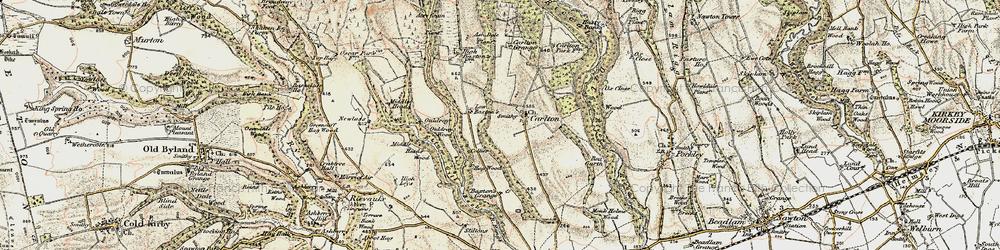 Old map of Acre Grain Plantn in 1903-1904