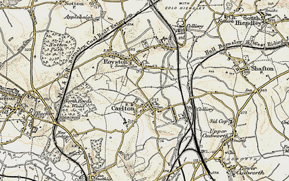 Old map of Carlton in 1903