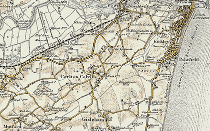Old map of Carlton Colville in 1901-1902