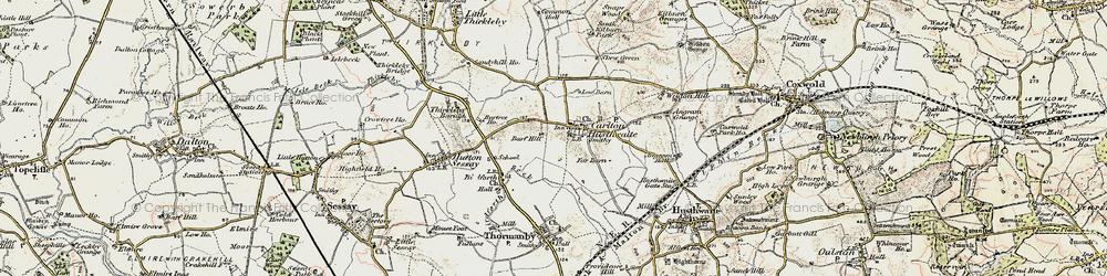 Old map of Angram Grange in 1903-1904