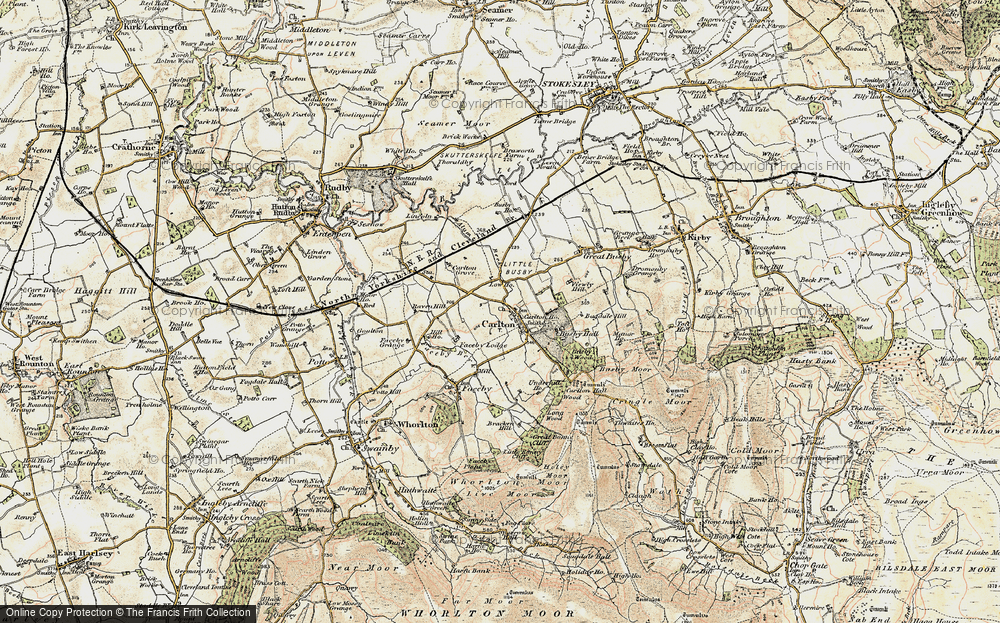 Old Map of Historic Map covering Thwaites Ho in 1903-1904