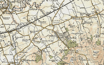 Old map of Thwaites Ho in 1903-1904