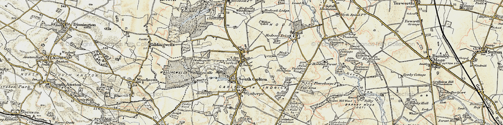 Old map of Willow Holt in 1902-1903