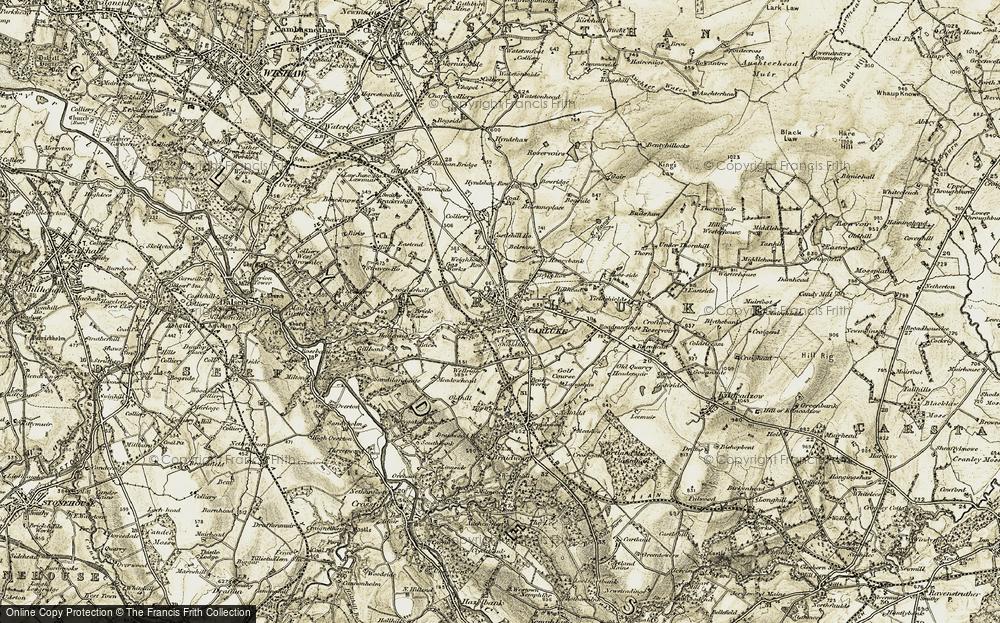 Old Map of Carluke, 1904-1905 in 1904-1905
