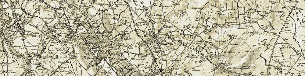Old map of Carluke in 1904-1905