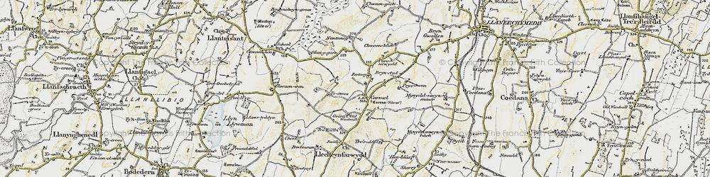 Old map of Carmel in 1903-1910