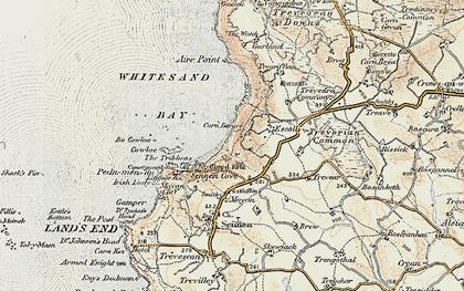 Old map of Carn Keys in 1900
