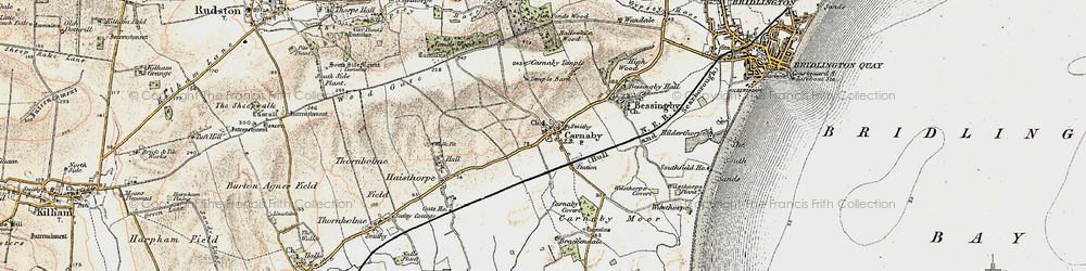Old map of Carnaby in 1903-1904