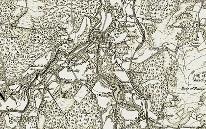 Old map of Wester Glenerney in 1910-1911