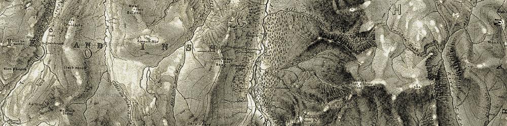 Old map of Allt Coire nam Mart in 1908