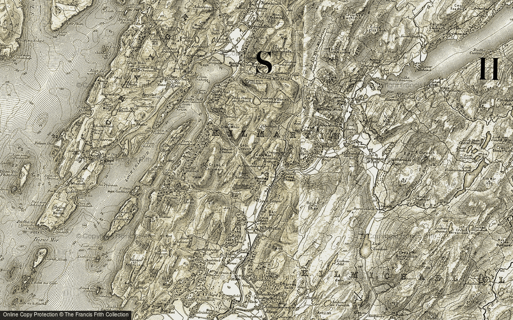 Old Map of Historic Map covering Tibertich in 1906-1907