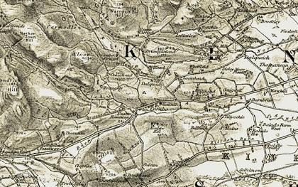 Old map of Ledlation in 1904-1908