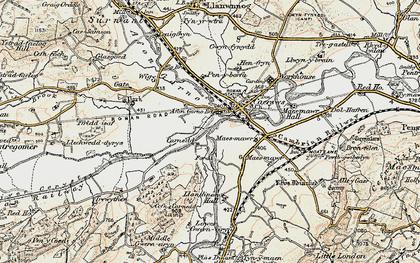 Old map of Carnedd in 1902-1903