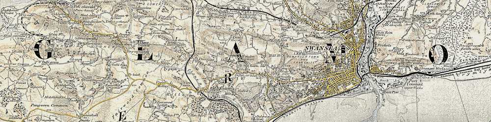 Old map of Carnglas in 1900-1901