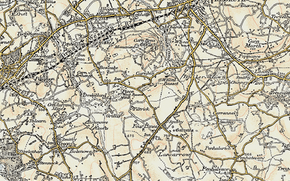 Old map of Carnkie in 1900