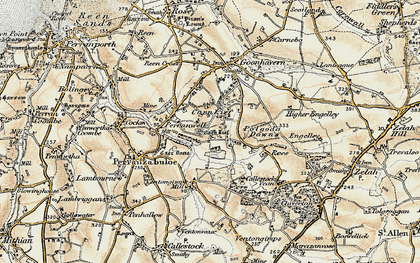Old map of Carnkief in 1900