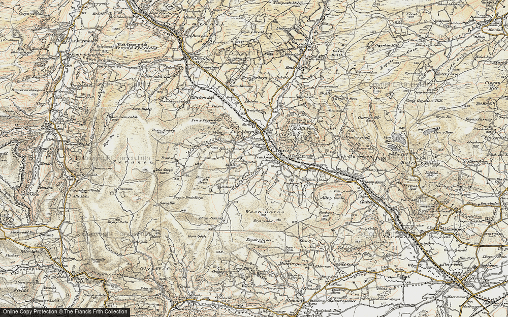 Old Map of Historic Map covering Afon Cerniog in 1902-1903