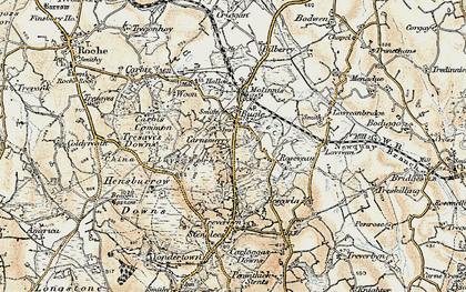 Old map of Carnsmerry in 1900