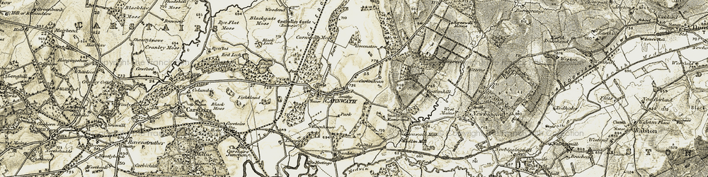 Old map of Carnwath in 1904-1905
