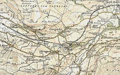 Old map of Carperby in 1903-1904
