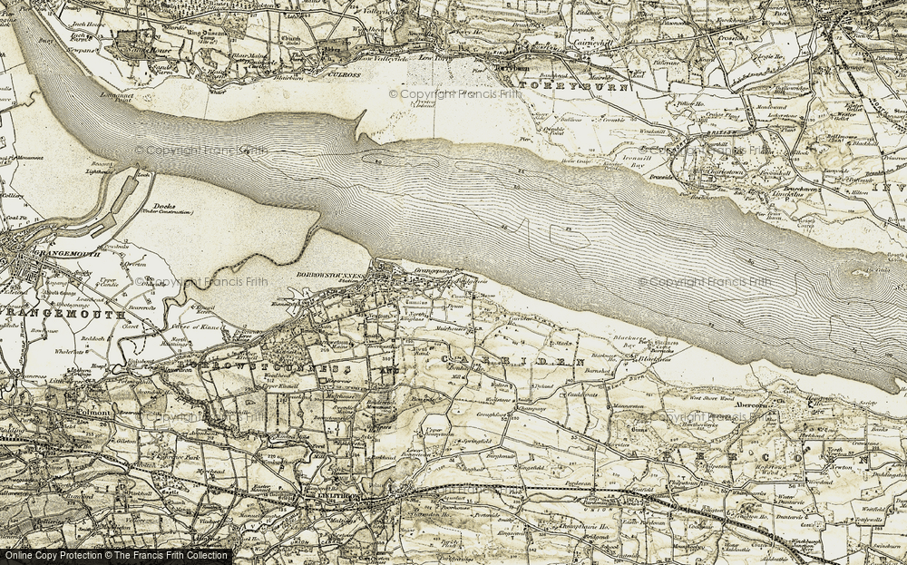 Old Map of Carriden, 1904-1906 in 1904-1906
