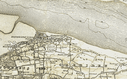 Old map of Carriden in 1904-1906