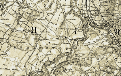 Old map of Aikendean in 1903-1904