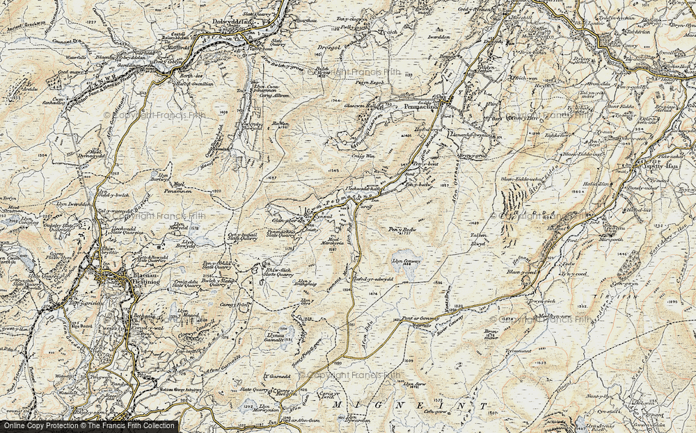 Old Map of Historic Map covering Afon y Foel in 1902-1903