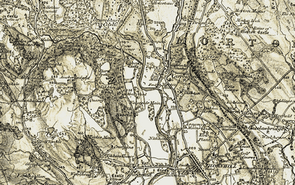 Old map of Auchenknight in 1904-1905