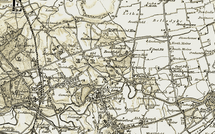 Old map of Carronshore in 1904-1907