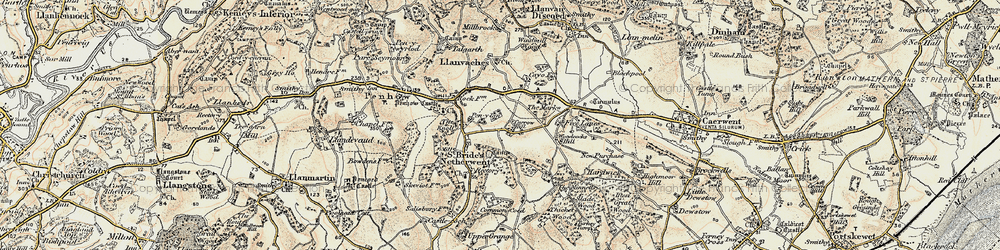 Old map of Carrow Hill in 1899-1900