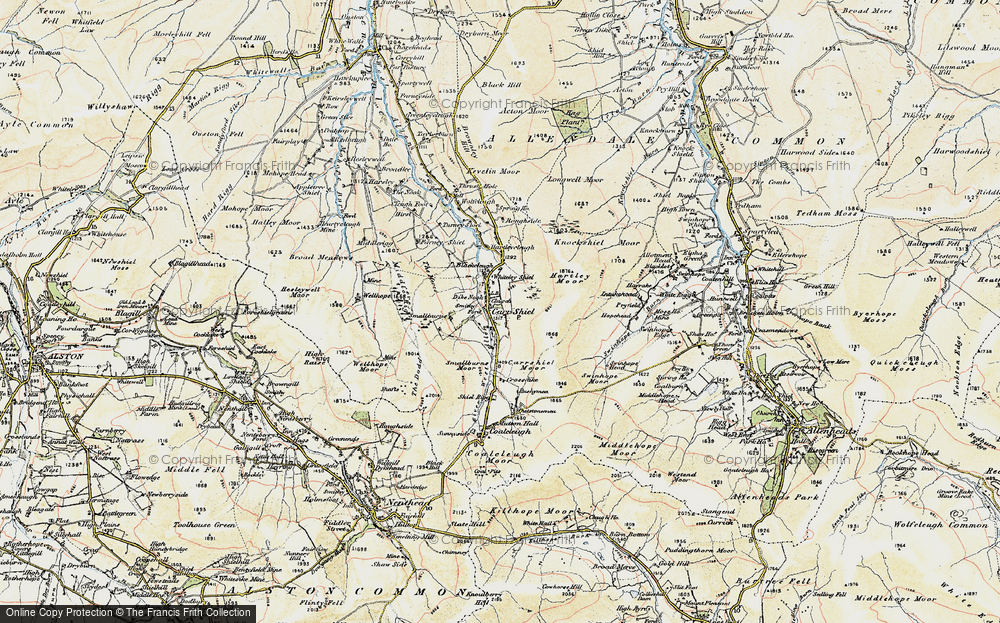 Old Map of Carrshield, 1901-1904 in 1901-1904