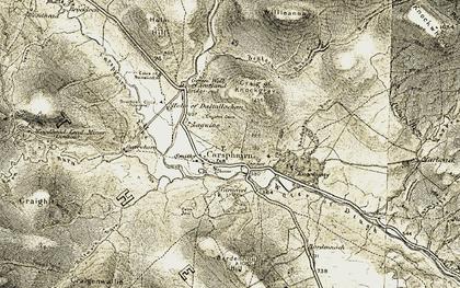 Old map of Liggat in 1904-1905