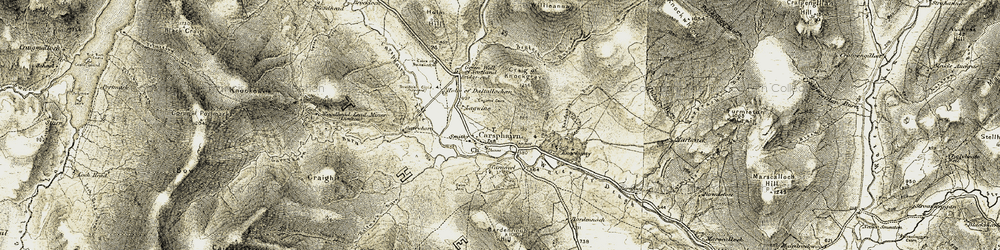 Old map of Willieanna in 1904-1905
