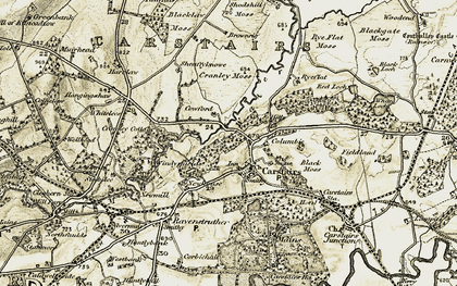 Old map of Windyshields in 1904-1905