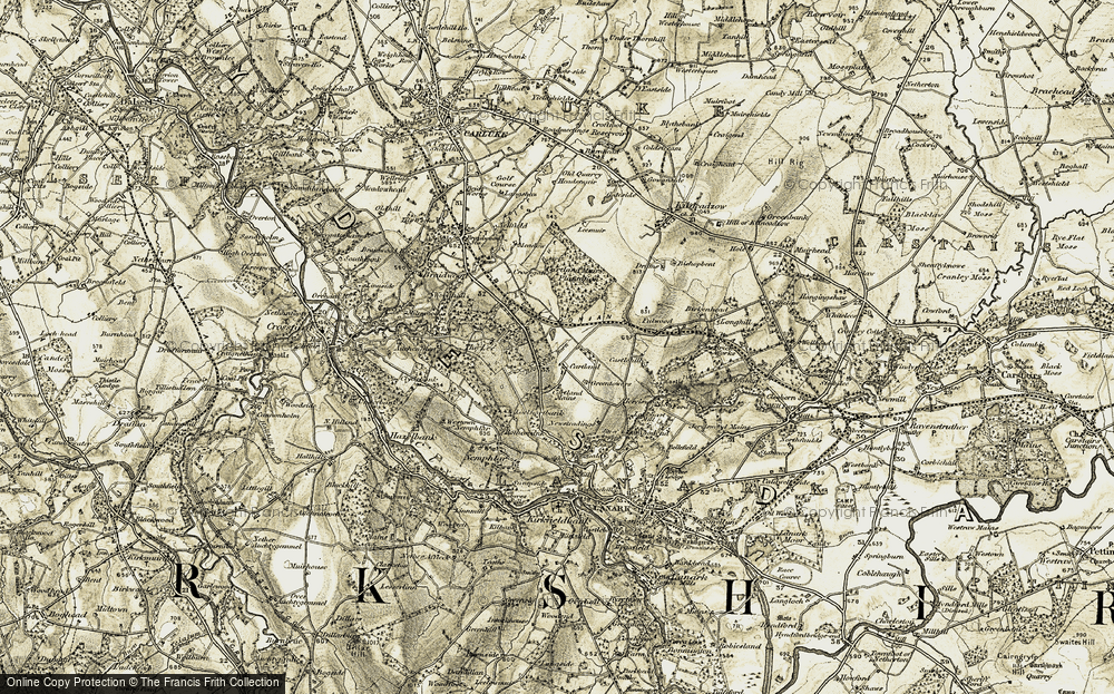 Old Map of Historic Map covering Auchenglen Burn in 1904-1905